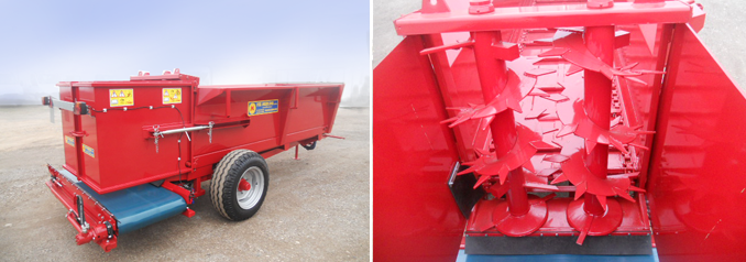 REAR COMPOST SPREADER WITH BELT CONVEYOR CARPET - F.LLI MERLINI